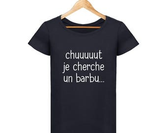 T-shirt Shhh I'm looking for a bearded man for woman