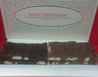 Almond Chcolate Bark with Inspirational Box Lids. Pick from over forty Box Lids.