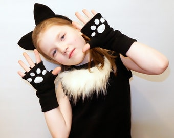 Cat girl/ Kids cat Costume/cat dress up/girl cat costume/handmade costume / Halloween costume