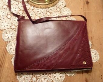 Vintage bordo handbag