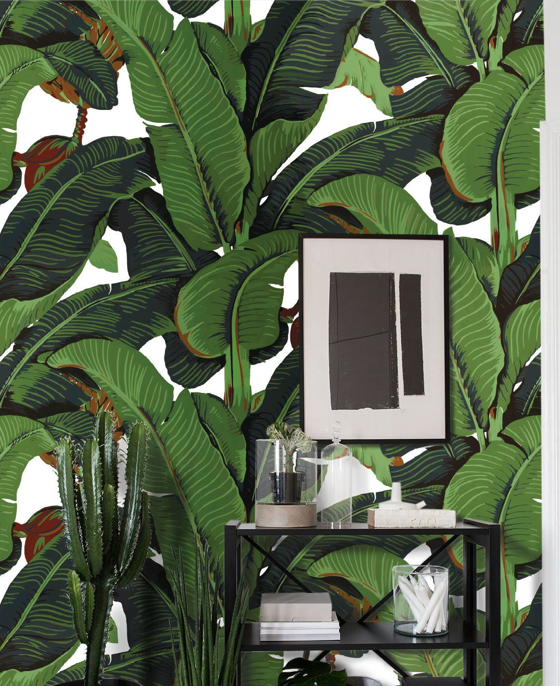 Attractive Banana Leaf Wallpaper, banana leaf, martinique, tropical wallpaper  MF54
