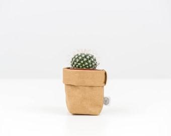 Mini Washable Paper Sack - Sasso (Brown)