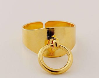 Story Of O Ring, Gold O Ring, BDSM Ring, Gothic Ring, Gothic Ring Women, Adjustable Ring, Gold Ring For Women, Ring For Her, Bondage Jewelry