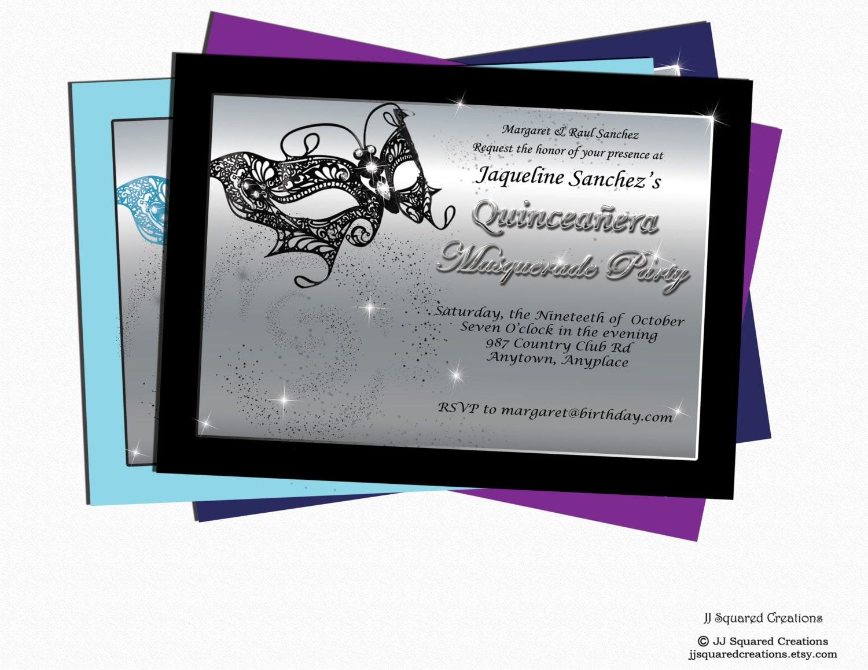 masquerade invitations for sweet 16 - Yeni.mescale.co