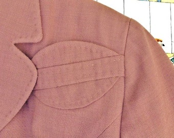 Vintage 1960's Mauve Neal's of California Jacket with unique pocket detail