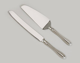 Custom Engraved, Westwood Cake Serving Set: Knife and Server
