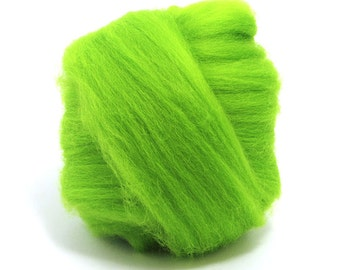 Merino Wool - 23 Micron Superfine Dyed - 1 Pound - Chartreause - Arm Knitting - SuperSoft Giant Blankets - Ethical Sourced Farm - 59