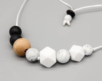 """Necklace/Still Chain """"Seattle"""" Silicone Wood Jewelry"""