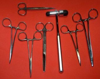 Antique Vintage Lot Of Medical Surgical Doctor Instruments Tools