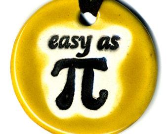 Easy as Pi Ceramic Necklace in Burnt Sugar Glaze