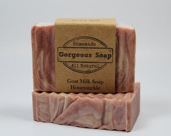 Honeysuckle Goat Milk Soap - All Natural Soap, Handmade Soap, Homemade Soap, Handcrafted Soap