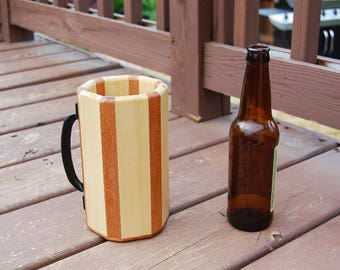 Wooden Mug - African Mahogany and Pine