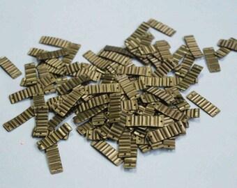 100 Dull Golden Color /Crimpled Texture/Metallic/ Rectangle Sequins/KBRGS302