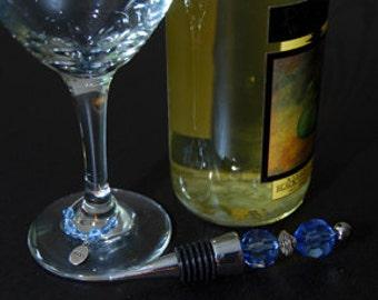 Bouchon à vin bleu