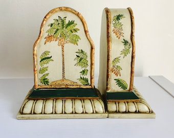 Vintage Palm Tree Bookends