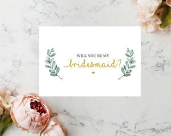 Will You Be My Bridesmaid Card, Bridesmaid Proposal Card, Card For Bridesmaid