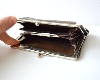 Old purse USSR Soviet wallet Vintage Brown wallet accessory 1960s made in USSR Soviet accessory