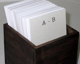 Address Card File...Vintage Style..Wedding Guest Book Alternative...Handcrafted...Organizer...Vertical
