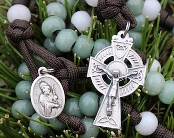 LIMITED EDITION: Saint Patrick's Paracord Gemstone Rosary