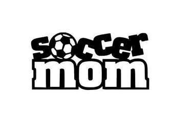 Soccer mom support car decal