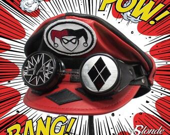 Harley Quinn Inspired Crush Cap & Goggles