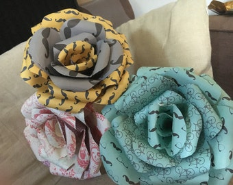 Giant Paper flowers. Origami flowers. Oversized bouquet. Handmade. Paper flowers
