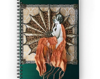 spiral notebook journal Age of Innocence art deco art nouveau