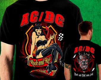AC/DC t-shirt stamped on both sides in high level cotton screen 185gr