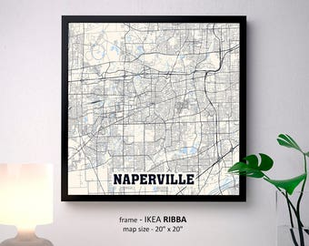 Naperville map art Etsy