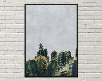 CACTI digital print, desert wall art, arizona decor cactus art, southwestern decor, southwestern art print, cactus wall art cacti wall decor