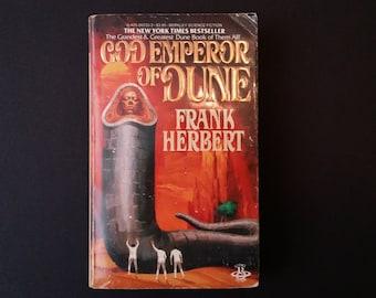Vintage God Emperor of Dune Paperback Frank Herbert 1981 Epic Science Fiction Literature