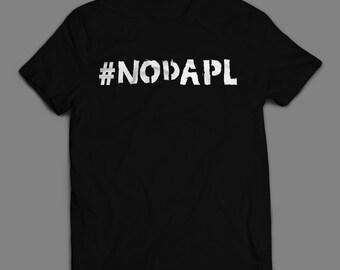 NODAPL T-shirt (S-XXL) #NoDAPL - Includes a free RESIST button! -