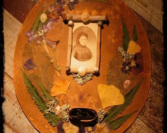 Memento. memento mori, hair art, mourning art, Victorian style, antique photo