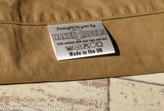 Clothing Tags: 300 X Custom Clothing Labels Silky Satin For Textile With