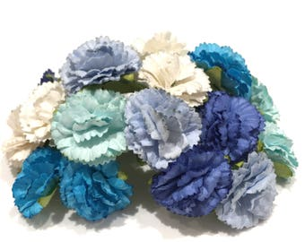 Blues Mix Mulberry Paper Carnations Pc017