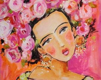 Blumen für Frida-Papier drucken