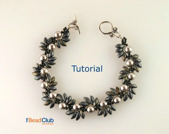 Right Angle Weave Patterns - Beaded Bracelet Patterns - Beading Tutorials and Patterns - Beadweaving Tutorial - Spiky Spiral Bracelet