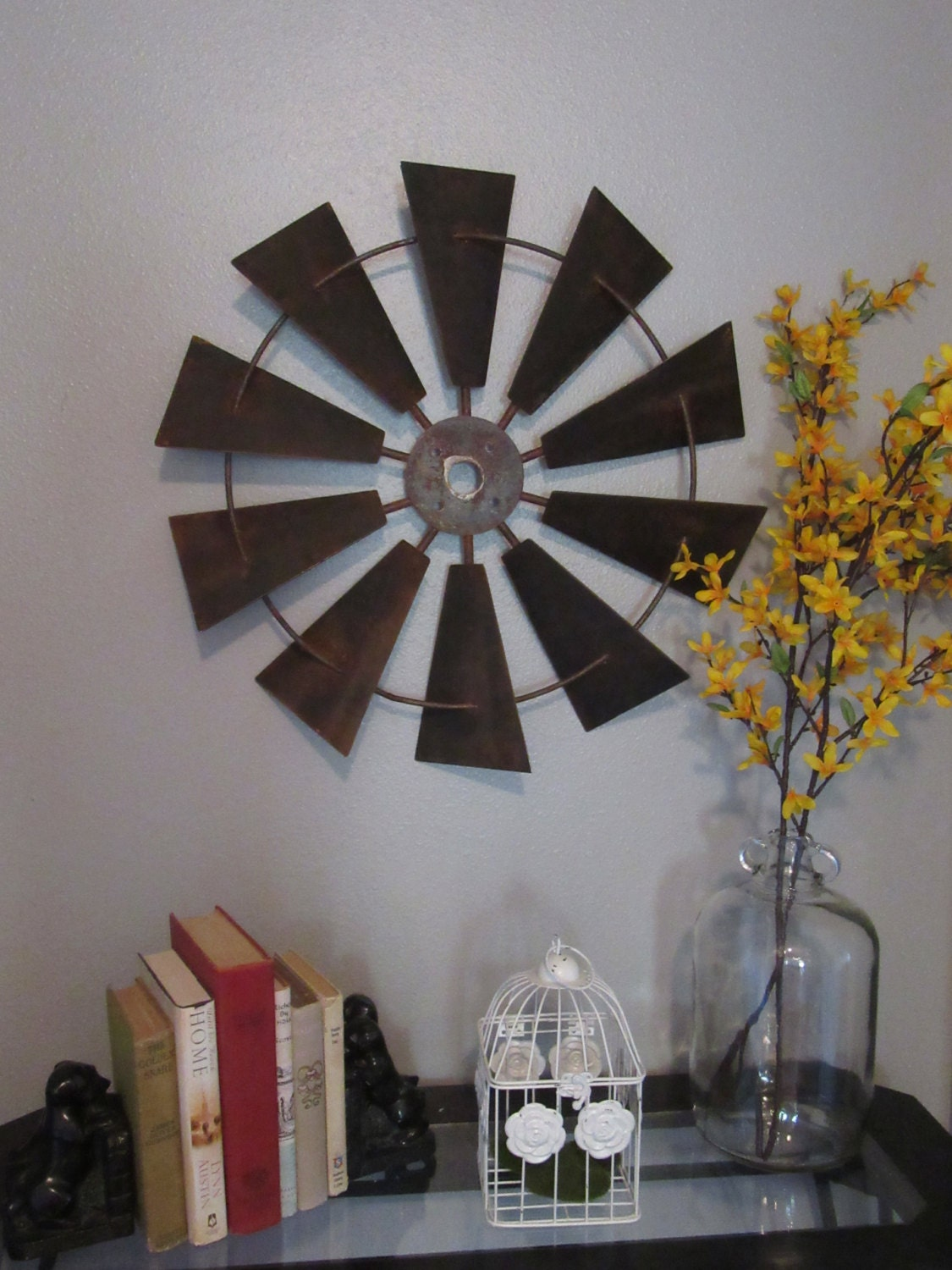 24 rustic windmill head wall decor rustic farmhouse zoom amipublicfo Gallery