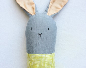 Green Bunny Rattle - Soft Baby Toy