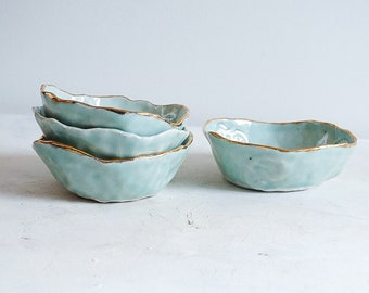 Small handmade dessert bowls