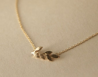 tiny gold feather necklace - feather Necklace - small feather necklace - gold feather - everyday necklace - everyday simple necklace