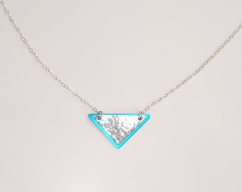 Double triangles sterling necklace