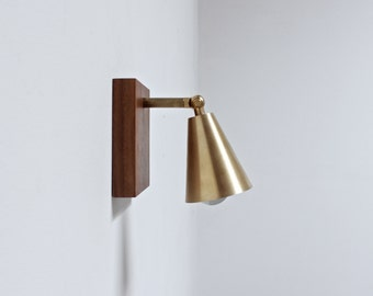 Sconce, wall lamp, brass lamp, modern lighting, industrial light