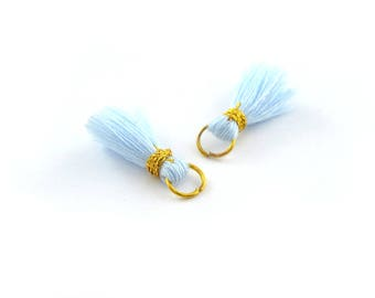 Small PomPoms 2 set of 2 cm / FM PO110 sky blue
