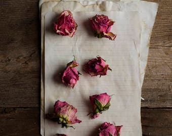 floral print wall art, dried flower decor, pink roses, farmhouse decor, rustic home decor, floral nursery art, romantic wall art, girls room
