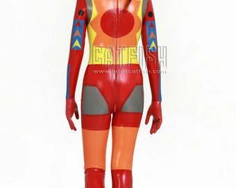 Unisex Sexy Japanese anime COSPLAY Latex Catsuit Rubber Latex Bodysuit