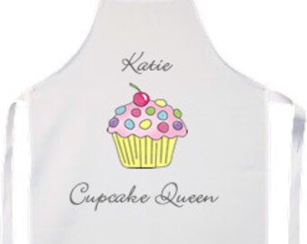 Personalised Cupcake Queen Cooking Baking Apron Gift