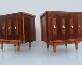 Pair Of Mid-Century Modern Danish  Nightstands.
