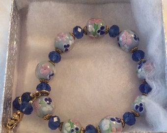 Blue Stone Stretch Bracelet