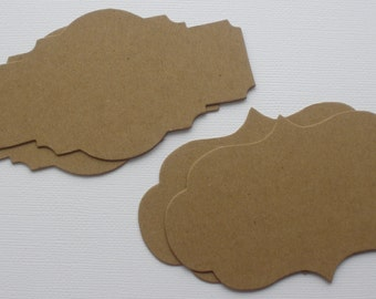 4 BRACKET LABELS COMBO - Bare CHiPBOARD Notes, Die Cuts,